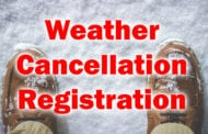 Weather Cancellation Registration