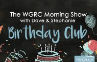 "The ""WGRC Morning Show With Dave and Stephanie"" Birthday Club"